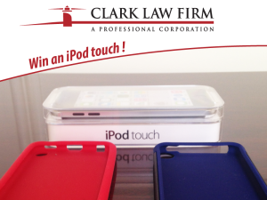 ipod Touch Clark Law Firm