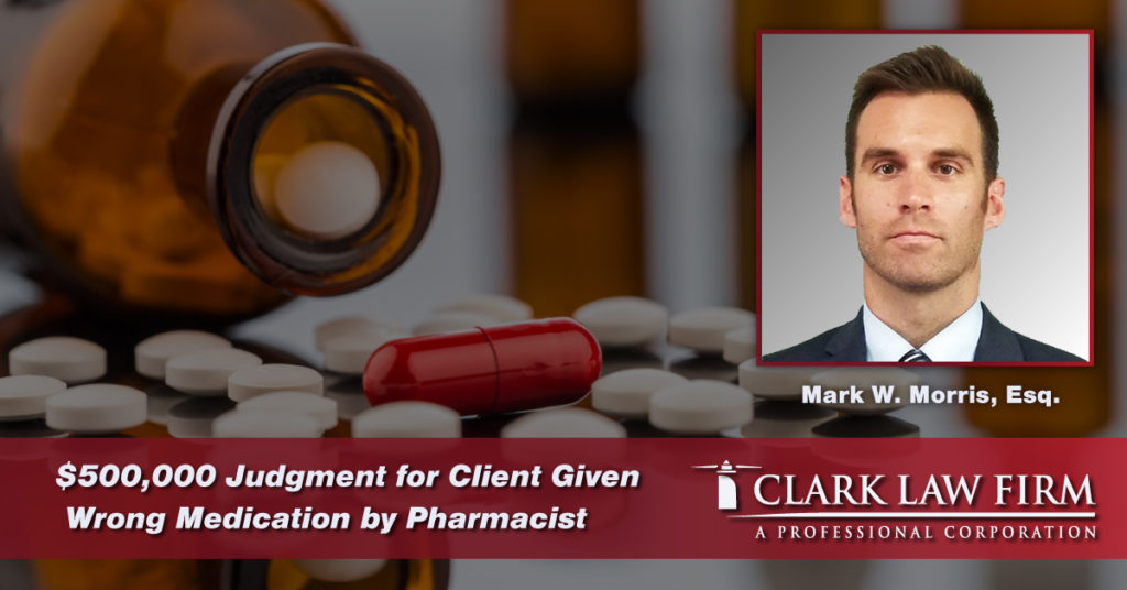 On September 19, 2019, the Clark Law Firm, P.C. obtained a $500,000 judgment in Essex County on behalf of a client who was negligently provided the wrong medication by her pharmacist. Defective medication cases in New Jersey are common and we fight for our clients.