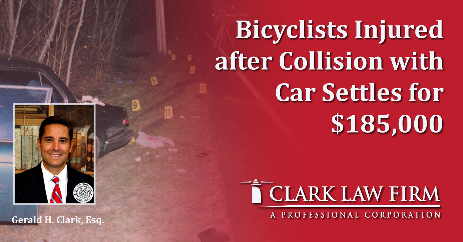 Bicyclists Injured after Collision with Car Settles for $185,000